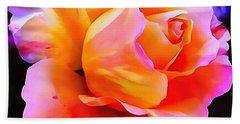 Floral Interior Design Thick Paint Beach Sheet