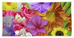 Floral Multitude Beach Sheet