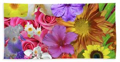 Floral Multitude Beach Sheet