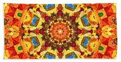 Mandala Of The Sun Beach Sheet