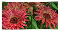 Beach Towel featuring the photograph Floral Pink by Deborah Benoit