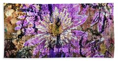 Floral Poetry Of Time Beach Towel