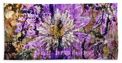 Floral Poetry Of Time Beach Sheet