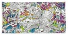 Floral Rainbow Beach Towel