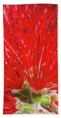 Floral Red Beach Towel