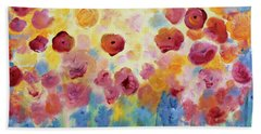 Floral Splendor II Beach Sheet
