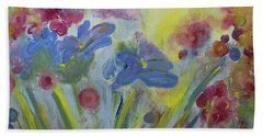 Beach Towel featuring the painting Floral Splendor by Stacey Zimmerman