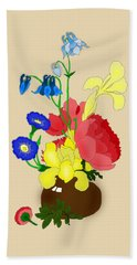 Floral Still Life 1674 Beach Towel
