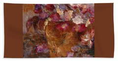 Floral Still Life Pinks Beach Towel