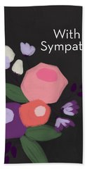 Floral Sympathy Card- Art By Linda Woods Beach Towel