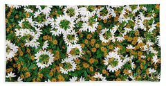Floral Texture In The Summer Beach Towel