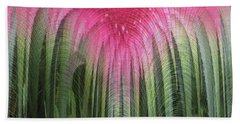 Floral Waterfall Beach Towel by Ann Johndro-Collins