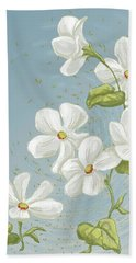 Floral Whorl Beach Towel