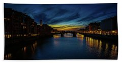 Florence At Sunset Beach Towel