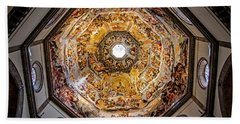 Beach Towel featuring the photograph Florence Cathedral by Jean Haynes