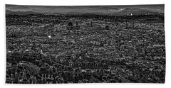 Beach Towel featuring the photograph Florence From Fiesole by Sonny Marcyan