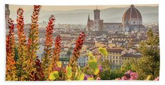 Florence In Summer Beach Towel