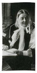 Florence Nightingale, English Nurse Beach Sheet