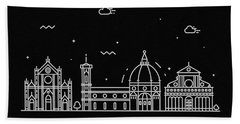 Florence Skyline Travel Poster Beach Towel