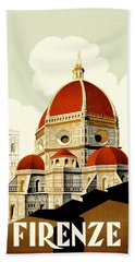 Florence Travel Poster Beach Towel