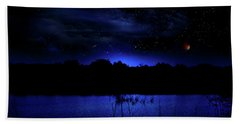 Florida Everglades Lunar Eclipse Beach Towel by Mark Andrew Thomas