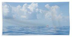 Florida Keys Clouds And Ocean Beach Sheet