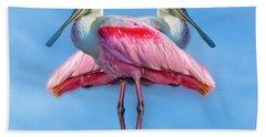 Florida Keys Roseate Spoonbill Beach Towel