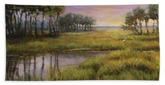 Florida Marsh Sunset Beach Towel