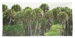 Beach Sheet featuring the photograph Florida Palm Trees Forest Landscape by Andrea Hazel Ihlefeld