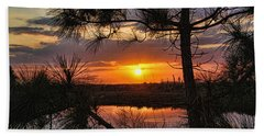 Beach Sheet featuring the photograph Florida Pine Sunset by HH Photography of Florida