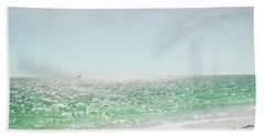 Beach Sheet featuring the photograph Florida Sailboat Tropical Ocean Landscape by Andrea Hazel Ihlefeld
