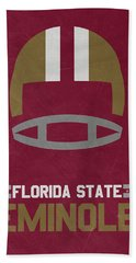 Florida State Seminoles Vintage Football Art Beach Sheet by Joe Hamilton
