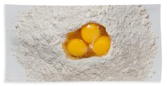Flour And Eggs Beach Towel