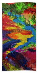 Flow Beach Towel by Jeanette French