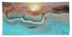 Flow Of Creation Beach Sheet
