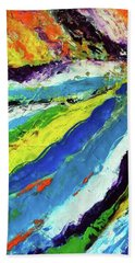 Beach Towel featuring the painting Flowage by Everette McMahan jr