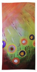 Flower 1 Abstract Beach Towel