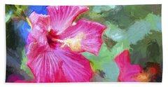 Flower 1 Beach Sheet by Glenn Gemmell