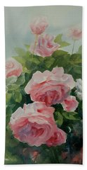 Beach Towel featuring the painting Flower 11 by Helal Uddin