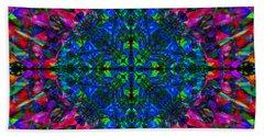 Flower Abstract 9 Beach Sheet by Mike McGlothlen