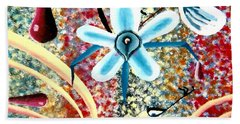 Flower And Ant Beach Towel by Luke Galutia