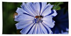 Flower And Bee 2 Beach Sheet