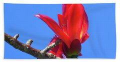 Flower And Sky Worship Beach Towel