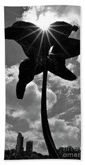 Beach Sheet featuring the photograph Flower Art by Zawhaus Photography