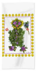 Beach Towel featuring the digital art Flower Baby by Lise Winne