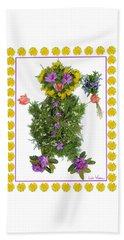 Flower Baby Beach Sheet