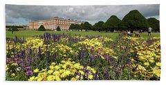 Flower Bed Hampton Court Palace Beach Towel
