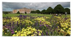 Flower Bed Hampton Court Palace Beach Sheet