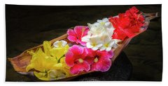 Flower Boat Beach Towel