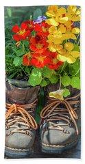 Flower Boots Beach Sheet